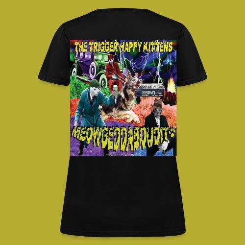 THK -MEOWGEDDABOUDIT! Women's  T-Shirt - BACK - Women's T-Shirt
