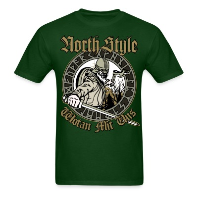 North Style: Wotan Mit Uns - Men's T-Shirt
