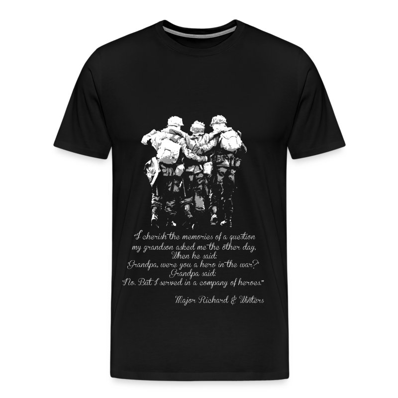Military i served in a company of heroes t shirt for Military t shirt companies