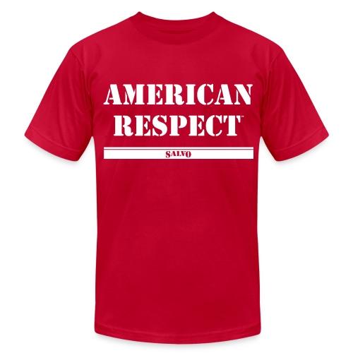 Salvo American Respect - Men's Fine Jersey T-Shirt