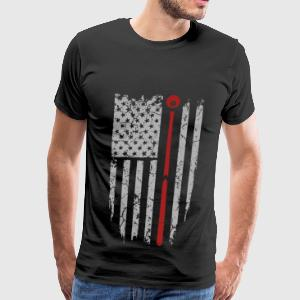 Pool - Awesome pool flag t-shirt for american - Men's Premium T-Shirt