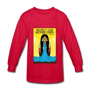 Water is Life #NoDAPL (Kids) - Kids' Long Sleeve T-Shirt