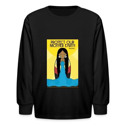 Water is Life #NoDAPL (Kids) - Kids' Long Sleeve T-Shirt