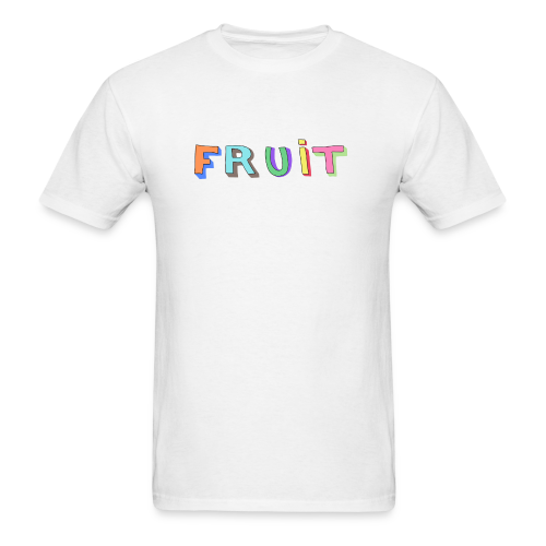 3D FRUIT (White) - Men's T-Shirt