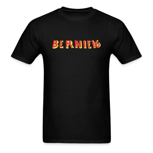 BERNIE16 (Black) - Men's T-Shirt