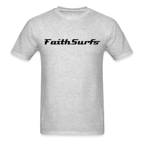 faithsurfs 2 sided grey - Men's T-Shirt