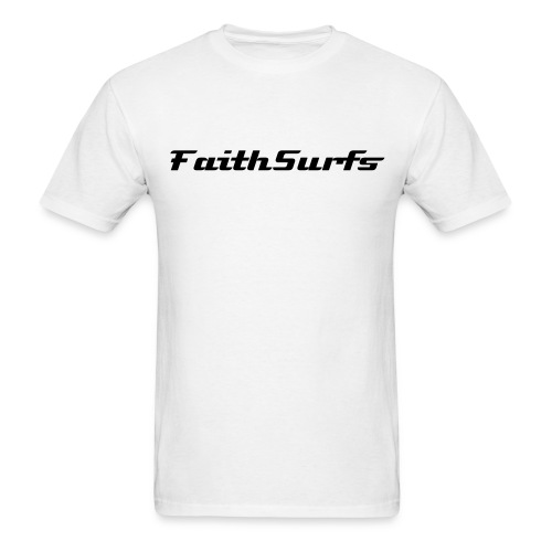 faithsurfs 2 sided white  - Men's T-Shirt