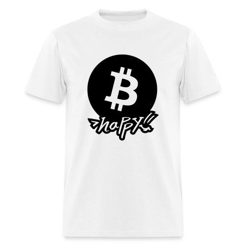 B happy! Man White T-shirt - Men's T-Shirt