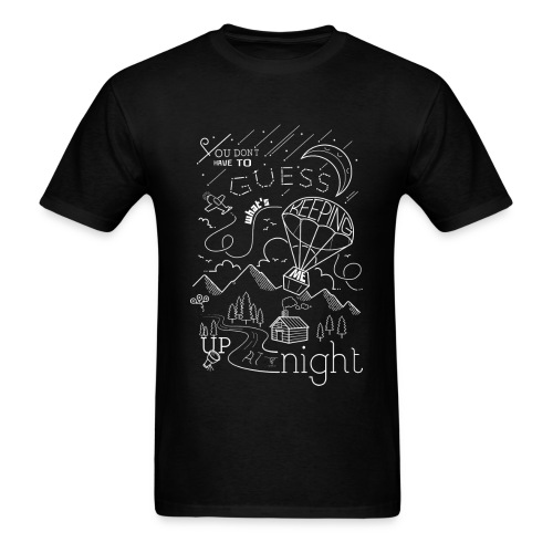 Up At Night Graphic Tee - Men's T-Shirt