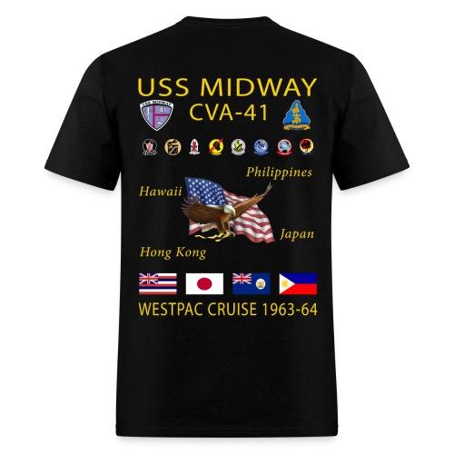 USS MIDWAY CVA-41 1963-64 WESPAC CRUISE SHIRT - Men's T-Shirt