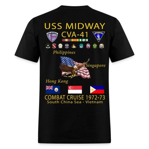USS MIDWAY CVA-41 1972-73 COMBAT CRUISE SHIRT - Men's T-Shirt