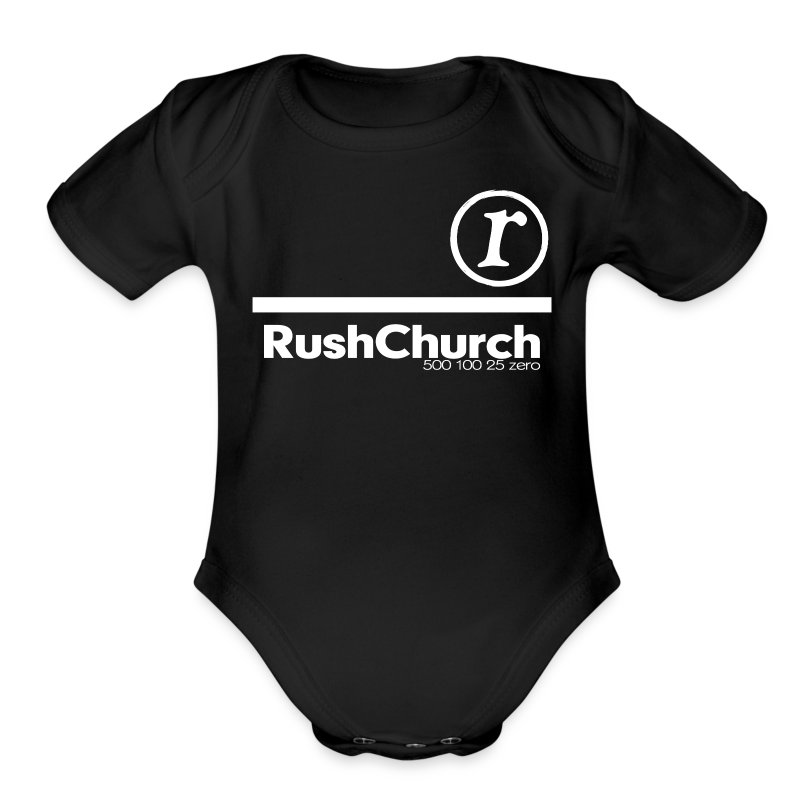 Infant / White Print - Short Sleeve Baby Bodysuit