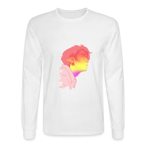 Rainbow Face - Men's Long Sleeve T-Shirt
