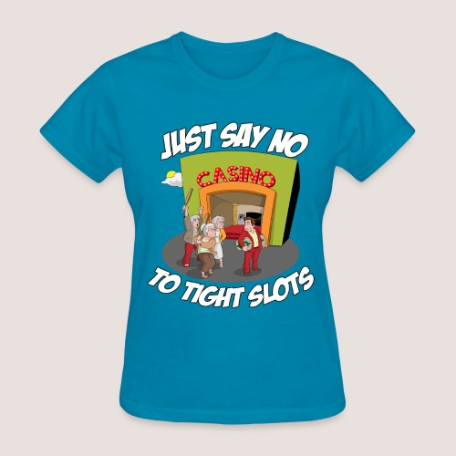 Women's JUST SAY NO Tee, w/ Text - Women's T-Shirt