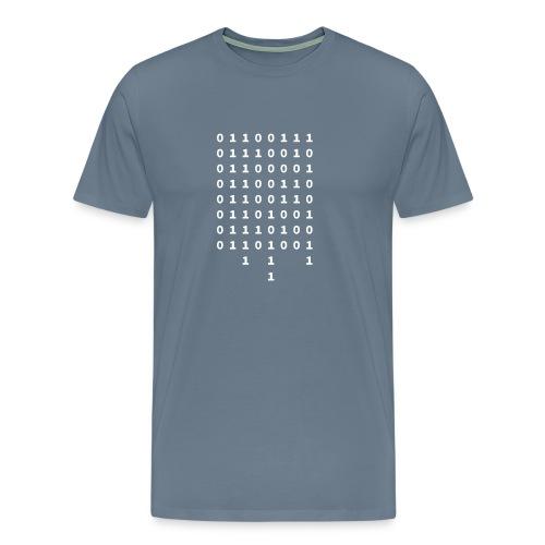 Graffiti in Binary - Men's Shirt - Men's Premium T-Shirt