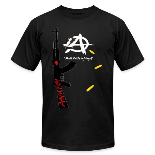 2A Anarchy AK47 American Apparel Gold Bullets - Men's Fine Jersey T-Shirt