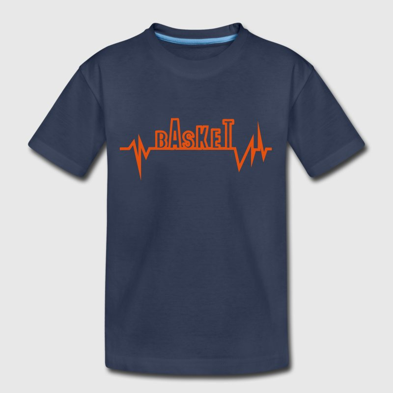 basketball traced curve word heart beat Kids' Shirts - Kids' Premium T-Shirt