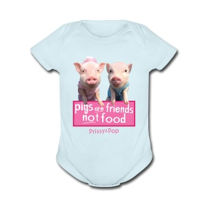 Pigs Are Friends Not Food Baby One Piece - Short Sleeve Baby Bodysuit