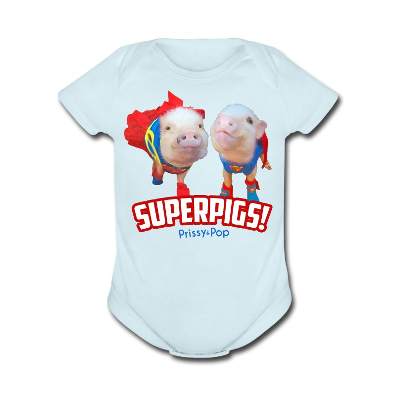 Baby SuperPigs - Short Sleeve Baby Bodysuit