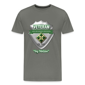Veteran 4th Infantry Division - Men's Premium T-Shirt