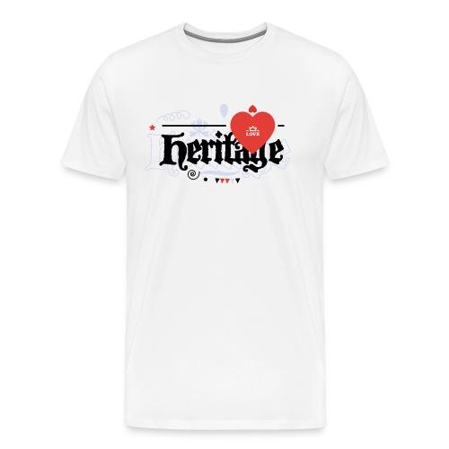 Love heritage_White-2 - Men's Premium T-Shirt
