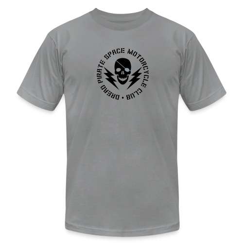 Dread Pirate Space Motorcycle Club (Black and Silver Logo) - Men's T-Shirt by American Apparel