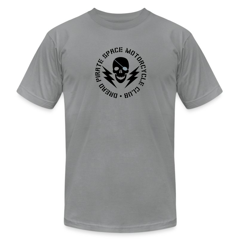 Dread Pirate Space Motorcycle Club (Black and Silver Logo) - Men's Fine Jersey T-Shirt