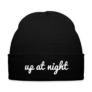 Up At Night Beanie - Knit Cap with Cuff Print