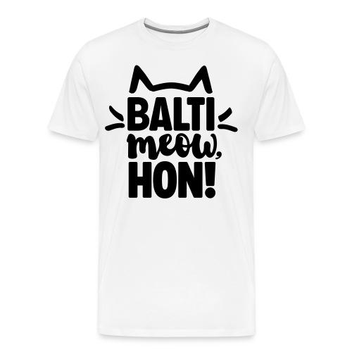 Balti-Meow, Hon! Unisex T-Shirt (White) - Men's Premium T-Shirt