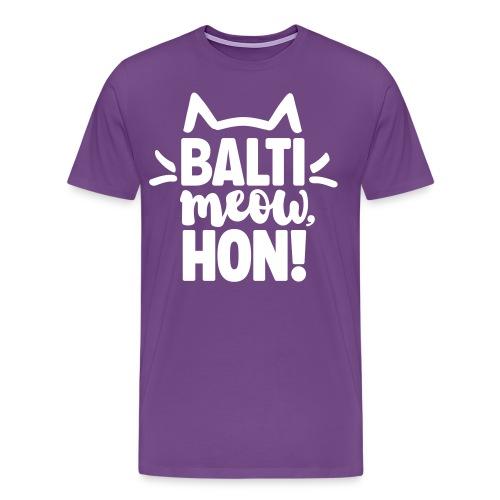 Balti-Meow, Hon! Unisex T-Shirt (Purple) - Men's Premium T-Shirt