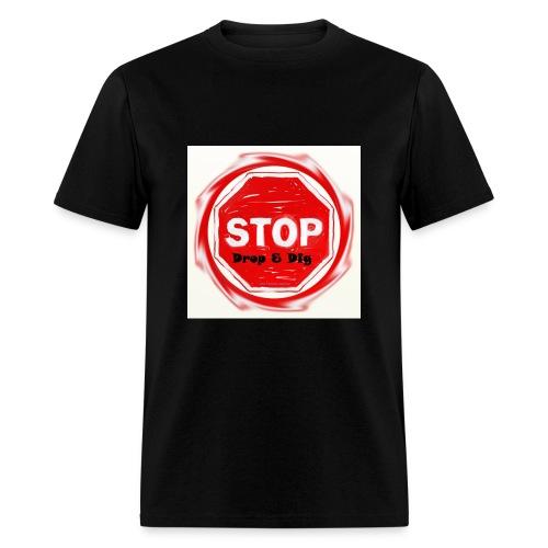 Stop Drop & Dig (Faded) - Men's T-Shirt