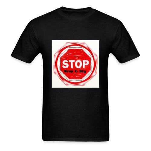 Stop Drop & Dig (Faded) - Men's T-Shirt