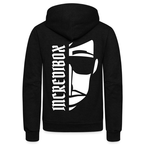 HALF FACE ZIP HOODIE (BACK FLOCK) - Unisex Fleece Zip Hoodie by American Apparel