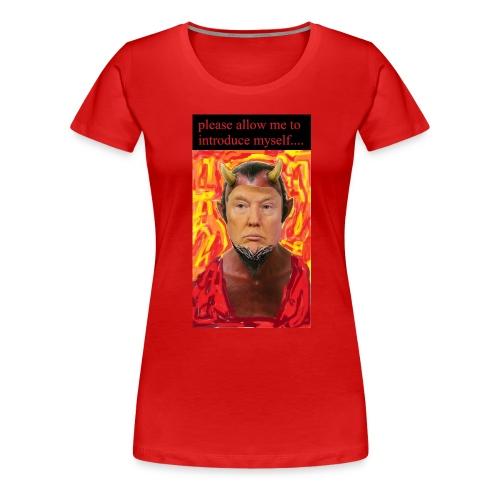 Satan Trump - Women's Premium T-Shirt