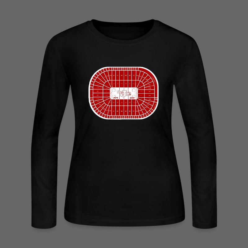Joe Louis Arena Tribute Shirt - Women's Long Sleeve Jersey T-Shirt