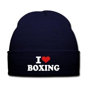 Love Boxing Beanie - Knit Cap with Cuff Print