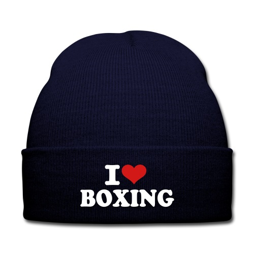 Love Boxing Beanie - Knit Cap with Cuff Print