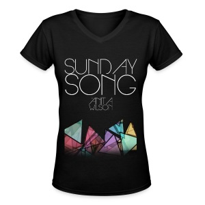 Sunday Song - Women's V-Neck T-Shirt