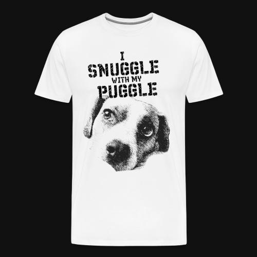 I Snuggle with my Puggle - Men's Premium T-Shirt