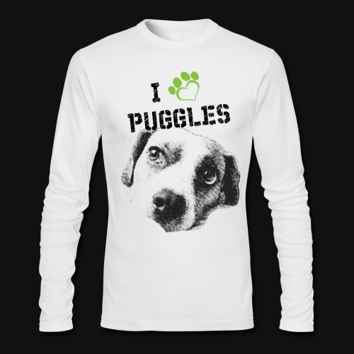 I Snuggle with my Puggle Long Sleeve - Men's Long Sleeve T-Shirt by Next Level