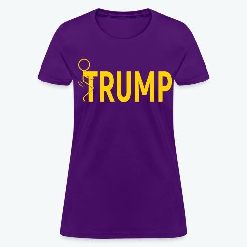 Hump Trump Women's T-shirt - Yellow Logo - Women's T-Shirt