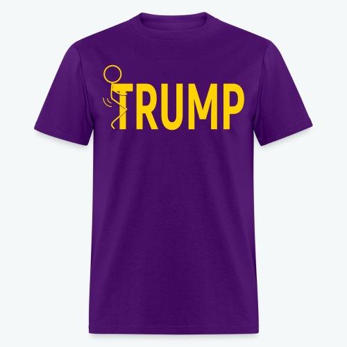 Hump Trump Men's T-shirt - Yellow Logo - Men's T-Shirt