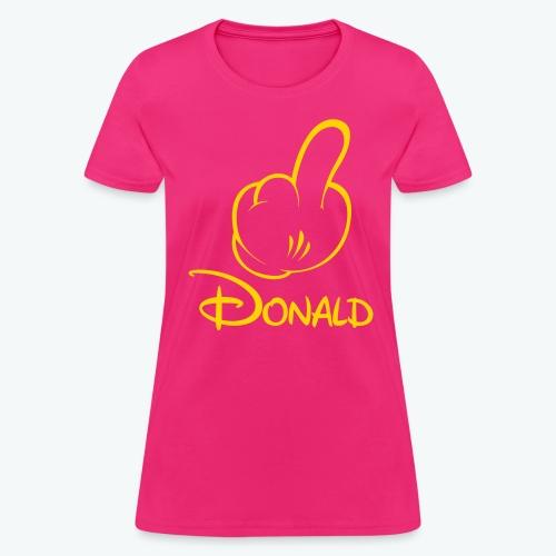 F Donald Women's T-shirt - Yellow Logo - Women's T-Shirt