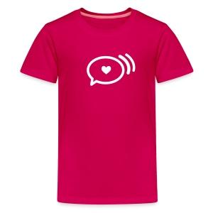 Kid's Love Loudly Brand Tee, White Design  - Kids' Premium T-Shirt