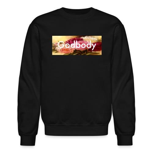 Godbody  Floral Box Logo Crewneck  - Crewneck Sweatshirt