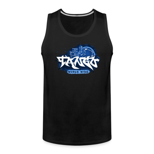 Blue Graffiti - Men's Premium Tank