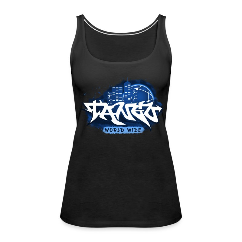 Blue Graffiti - Women's Premium Tank Top