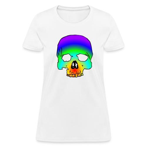 cotton candy skull  - Women's T-Shirt