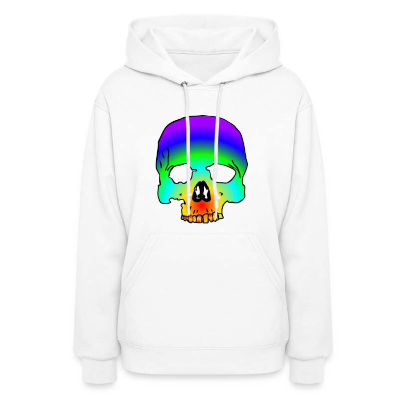 cotton candy skull  - Women's Hoodie