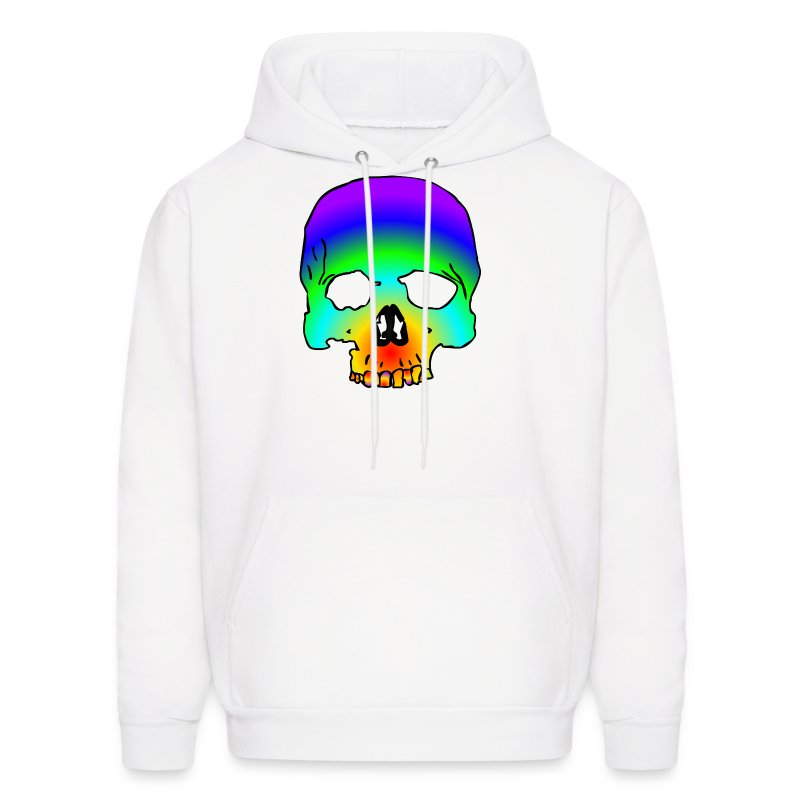cotton candy skull  - Men's Hoodie